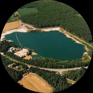 Luftbild der Brinksandgrube